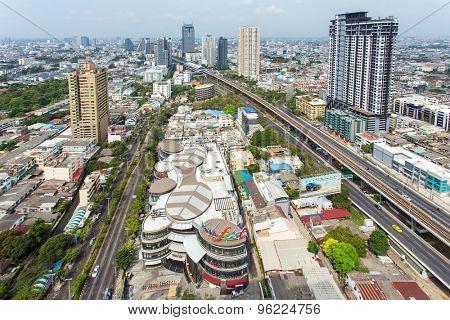 Bangkok, Thailand - February 18, 2015: Landscape of Bangkok city day view