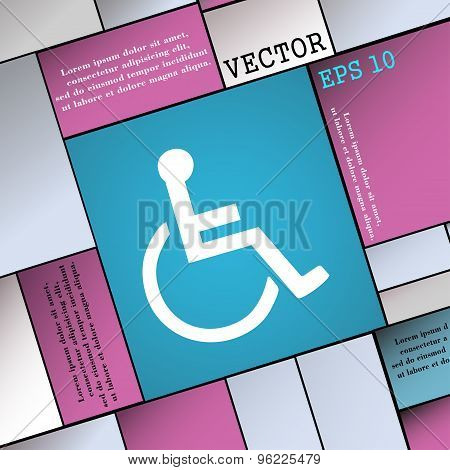 Disabled Icon Sign. Modern Flat Style For Your Design. Vector
