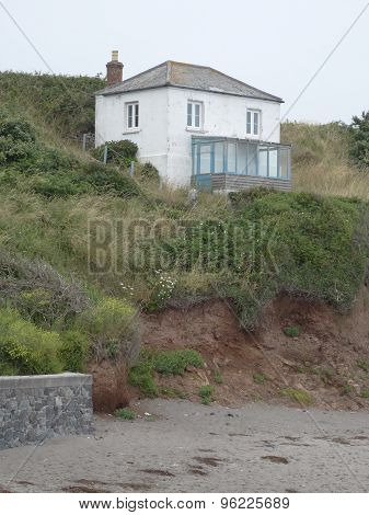 House Upon Cliff Seascape