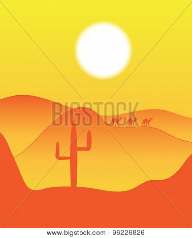hot sun of the desert