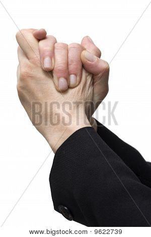 agreement gesture or mercy with two hands