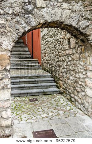 Arched Stone Stairs