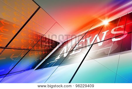 Graphical Modern Digital World News Background