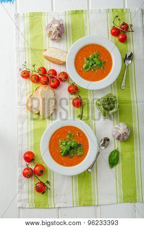 Tomato Soup With Gremolata