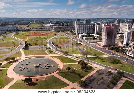 Aerial view of Pilot Plan of Brasilia City