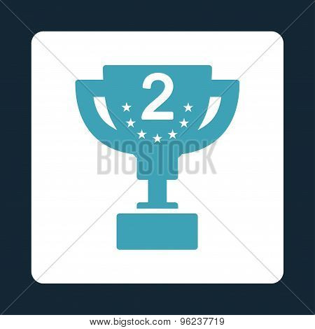 Second prize icon from Award Buttons OverColor Set