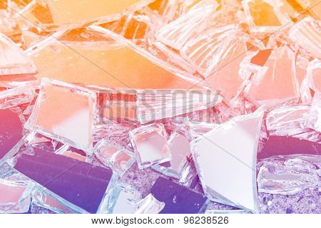Beautiful Abstract Broken Glass Design Background