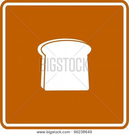 toasted bread slice sign