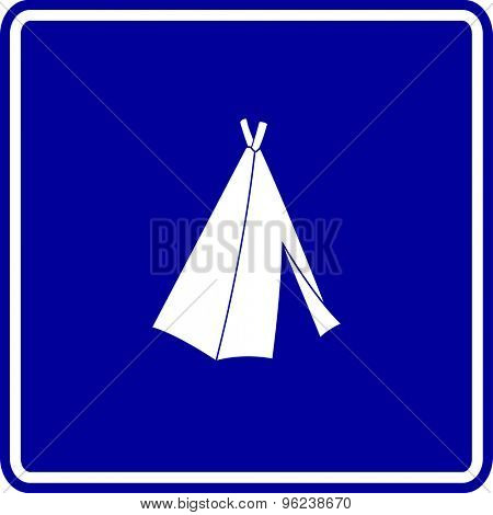 native american tepee sign