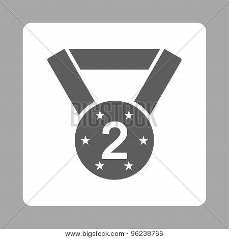Second medal icon from Award Buttons OverColor Set
