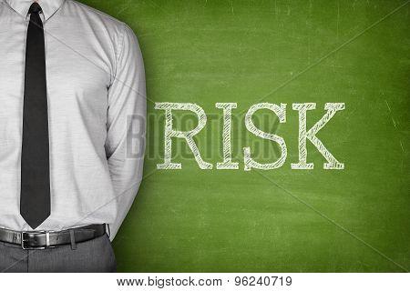 Risk concept on blackboard
