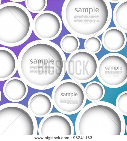 Abstract web design bubble with background.