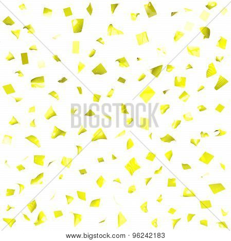 Background Of Yellow Shiny Pieces Of Paper