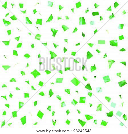 Background Of Green Shiny Pieces Of Paper