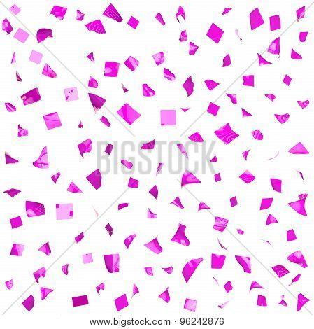 Background Of Violet Shiny Pieces Of Paper