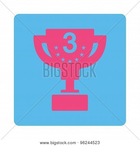 Third prize icon from Award Buttons OverColor Set