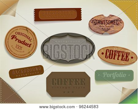 set ribbons and label