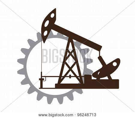 Silhouette of an oil pump gear.