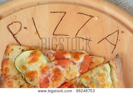 Pizza And Written Pizza Word.