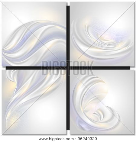 Abstract pearl wave background with curves