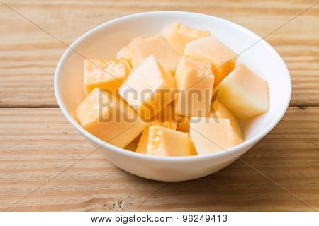 Cantaloupe In White Dish 5