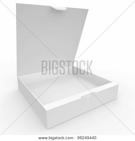 White Blank Box With Clasp