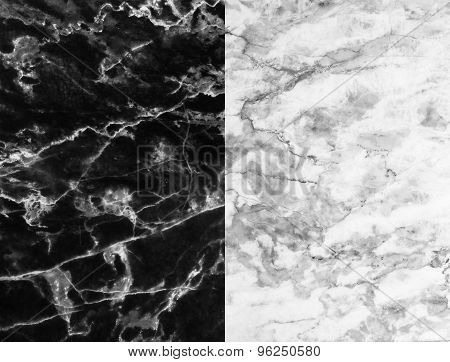 Black and white marble texture, detailed structure of marble for design.