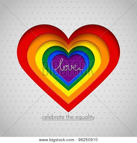 Rainbow Vector Heart Celebrate The Equality Of Love