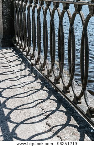 Detail Of The An Embankment Railing