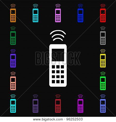 The Remote Control Iconi Sign. Lots Of Colorful Symbols For Your Design. Vector