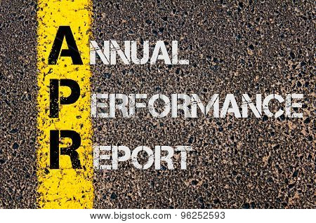 Business Acronym Apr As Annual Performance Report