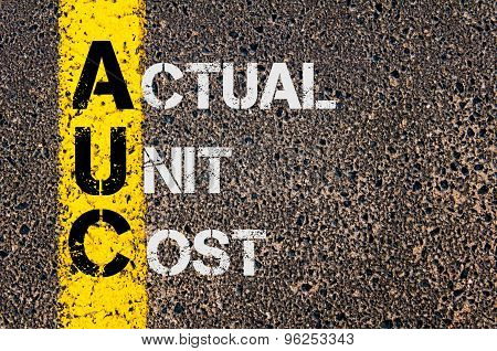 Business Acronym Auc As Actual Unit Cost