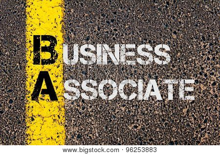 Business Acronym Ba As Business Associate