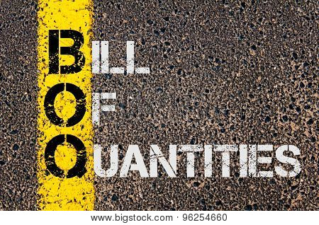 Business Acronym Boq As Bill Of Quantities
