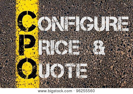 Business Acronym Cpq As Configure Price And Quote