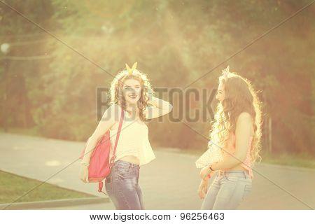 Best Girlfriends For A Walk.