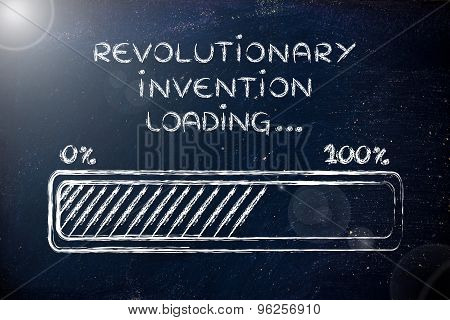 Revolutionary Invention Loading, Progress Bar Illustration