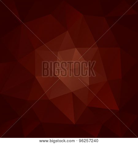 Vector Polygonal Background Triangular Design In Chocolate Co