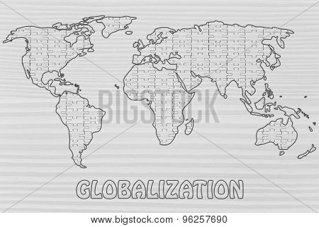 Globalization, Jigsaw Puzzle World Map