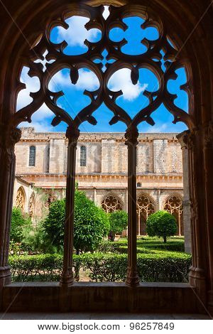 View Of The  Monastery Of Santa Maria De Santes Creus, Catalonia