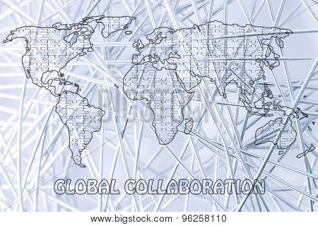 Global Collaborations, Jigsaw Puzzle World Map