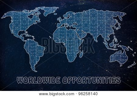 Worldwide Opportunities, Jigsaw Puzzle World Map