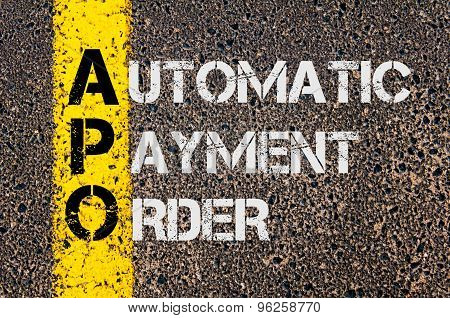 Business Acronym Apo As Automatic Payment Order