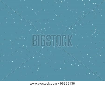 Blue Background With Snow Falling, Winter Concept.