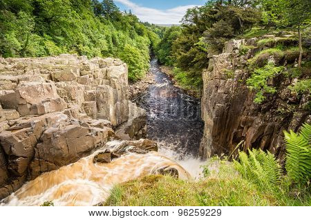 River Tees Flows Over High Force