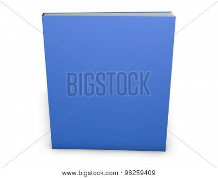 Blank Magazine Or Book With Empty Blue Cover. Copy Space For Any Illustration.