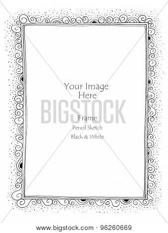 Picture Frame S Alphabet Pencil Sketch