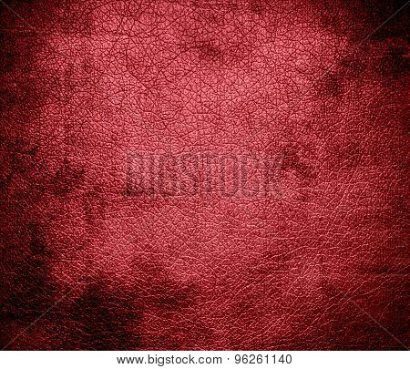 Grunge background of dark terra cotta leather texture