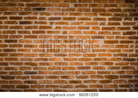 Decorative Red Brick Wall Texture