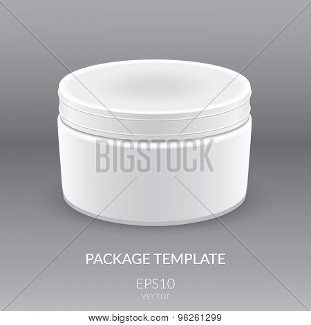 Blank Cosmetic Container for Cream